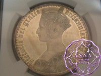 Great Britain 1847 Victoria Gothic Crown NGC MS61