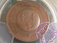 France 1814 First Restoration Bronze Essai 2 France PCGS SP64BN