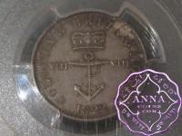 British West Indies 1822 George IV 1/8 Dollar PCGS MS63