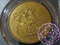 Great Britain 1902 Edward VII Matte Proof  4 Gold coin Set, PCGS PR62-63