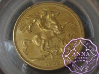 Great Britain 1902 Edward VII Matte Proof Gold 2 Pounds PCGS PR62