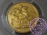 Great Britain 1902 Edward VII Matte Proof Gold Sovereign PCGS PR62