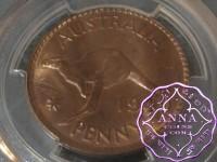 Australia 1949 M Penny PCGS MS64RB
