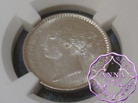 British India 1840 Victoria 1/4 Rupee NGC MS63