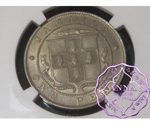 Jamaica 1919 George V Penny NGC MS63