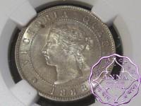 Jamaica 1888 Victoria 1/2 Penny NGC MS64