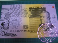 1992 Mc $5 U6 Melb Fraser/Cole Uncut of 2