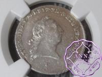 German 1792 C Brunswick Lüneburg Calenberg Hannover, George III 1/6 Taler NGC MS63