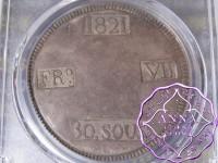 Spain 1821 Majorca Ferdinand VII 30 Sueldos PCGS XF40