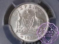 Australia 1936 Sixpence PCGS MS65