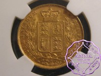 "Australia 1884M ""Shield"" Gold Sovereign NGC MS61"