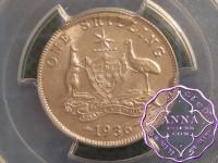 Australia 1936 Shilling PCGS MS63