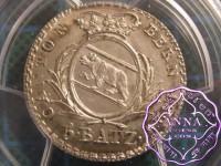 Switzerland 1826 Bern 5 Batzen PCGS MS66