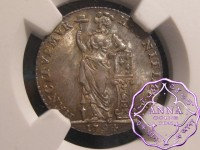 Netherlands West Indies 1794 FOED 1/4 Gulden NGC MS65