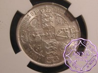 Great Britain 1885 Victoria Florin NGC  MS64
