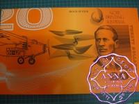 1993 Mc $20 U7 Fraser/Cole Uncut of 4 Red Serials