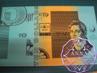1991 Mc $10 U10 Sydney Fraser/Cole Uncut of 4