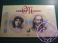 1996 $100 AA96 & ZLD NPA Two Banknotes Folder