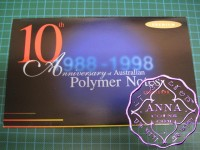 1998 $1010th Anniversary NPA Premium Two banknotes Folder
