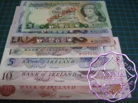 Northern Ireland 1978 Specimen 7 Note Set