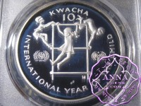 Zambia 1980 Silver Proof 10 Kwacha PCGS PR68DCAM Deep Ultra Cameo