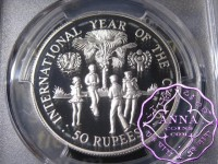 Seychelles 1980 Silver Proof 50 Ruppes PCGS PR69DCAM Deep Ultra Cameo