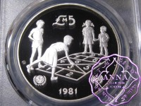 Malta 1981 Silver Proof 5 Pounds PCGS PR69DCAM Deep Ultra Cameo