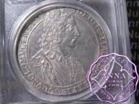 Austria 1704 Olmutz Karl III Taler PCGS AU50