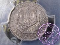Dominican 1882 A 50 Centavos PCGS AU58