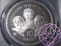 Lesotho 1979 Silver Proof 10M PCGS PR68DCAM Deep Ultra Cameo