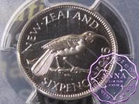 NZ 1965 Proofflike Sixpence PCGS PL66