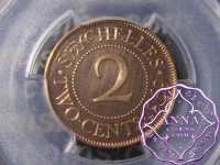 Seychelles 1969 Proof 2 Cents PCGS PR66RD