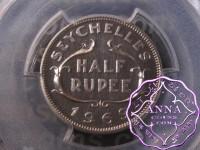 Seychelles 1969 Proof Half Rupee PCGS PR66