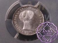 Spain 1855 Isabel II Real PCGS MS65+