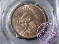Australia 1948 M Penny PCGS MS63RB