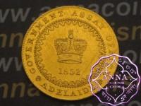 """Australia 1852 Victoria Gold """"Adelaide"""" Pound Type II aUNC"""