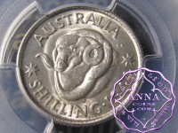 Australia 1944 S Shilling PCGS MS63