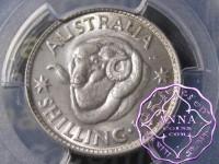 Australia 1957 Shilling PCGS MS64