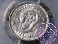 Australia 1957 Shilling PCGS MS65