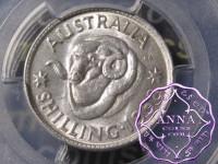 Australia 1958 Shilling PCGS MS63