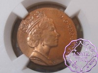UK 1997 2P Struck on 1P Plan Mint Error NGC MS65RD