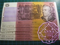 1991 R213 $5 Fraser/Cole Consecutive 5 UNC