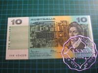 1985 $10 R309 Johnston/Fraser UNC