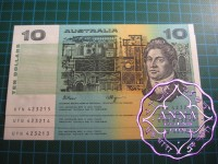 1990 $10 R312 Fraser/Higgins UNC