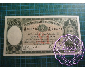 1933 R28 One Pound Riddle/Sheehan UNC