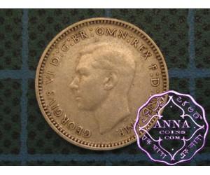 Australia George VI 92.5 Silver Threepence Average Circulated Condition