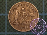 Australia 1911 Threepence