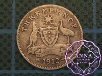 Australia 1912 Threepence