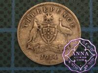 Australia 1914 Threepence