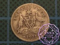 Australia 1921 M Threepence